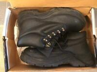 Men's Safety Boots Leather - Size 8 (EU 42) Black color Contractor Model #811SM