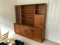 1970s G Plan Wall Unit / Bookcase / Drinks Cabinet / Sideboard
