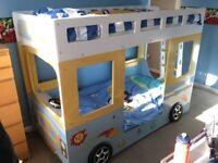 Star bright kids bus bunk bed / high sleeper / bunkbed