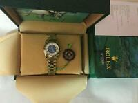 LADIES ROLEX OYSTER DATEJUST PERPETUAL Automatic Watch, golden case blue dial