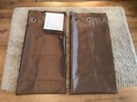 Mink coloured lined curtains 90x90 inches. Exc