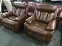 New leather recliner armchairs £165 each