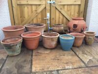 Terracotta garden pots - various
