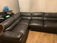Leather Corner Piece sofa