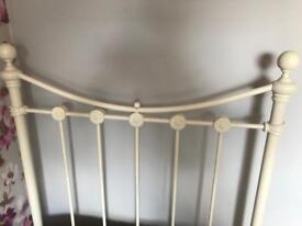 Cream Amelia single bed frame