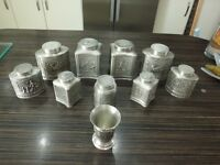 metal decorative jars