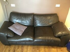 3 Seat Leather Sofa - Excellent condition