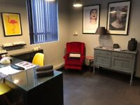 Two rooms available to rent in a busy city centre salon