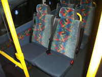 MINIBUS SEATS WITH INTEGRAL SEAT BELTS