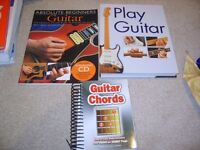 3X Learn to play guitar books and chord book