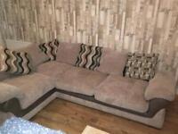 Beige corner sofa (right) great condition