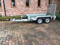 Twin axle plant trailer heavy duty braked
