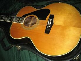 YAMAHA CJ838S 1979-81 J200 lawsuit copy with hard case and fishman pickup