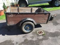 ROAD TRAILER - GARDEN WASTE - HOLIDAY - TRANSPORT -CAMPING - GOOD TRAILER NEW TYRES READY FOR USE
