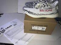 ADIDAS X Kanye West Yeezyboost 350 V2 ZEBRA White/Black UK7.5 CP9654 ADIDAS RECEIPT 100sales