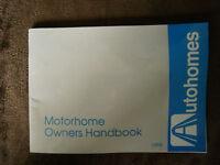 Motorhome owners manual - Elddis / Autohomes etc