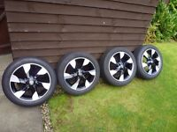 """Nissan alloy wheels and tyres. 16"""". (185/55/16 tyres)"""