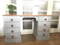 SOLID OAK DESK/DRESSING TABLE FREE DELIVERY LDN🇬🇧CHEST