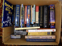 Large box of Christian and Theology Books