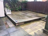 3' x 2' grey concrete slabs