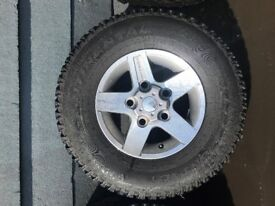 SET OF 5 GENUINE LAND ROVER DEFENDER ALLOYS & TYRES