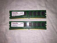 4GB(2 x 2GB) PC2-4200/4300 DDR2 533Mhz 2048MB NON ECC