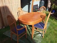 Dinning table and 4 chairs free for collection