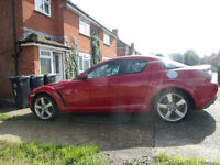 Red Mazda RX8 2.6 drives but needs attention £750 ono
