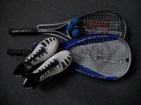 Squash kit. Shoes, racquets and balls