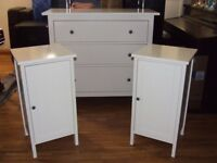 CHEST OF DRAWERS SET IKEA IN WHITE EXCELLENT CONDITION FREE EDINBURGH DELIVERY