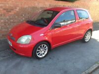 TOYOTA YARIS SR VVT-i 2002 REG LONG MOT, FULL HISTORY, HPi CLEAR, TOP SR SPEC WITH ALLOYS & AIR CON