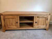 Solid Oak TV Cabinet - Excellent Condition