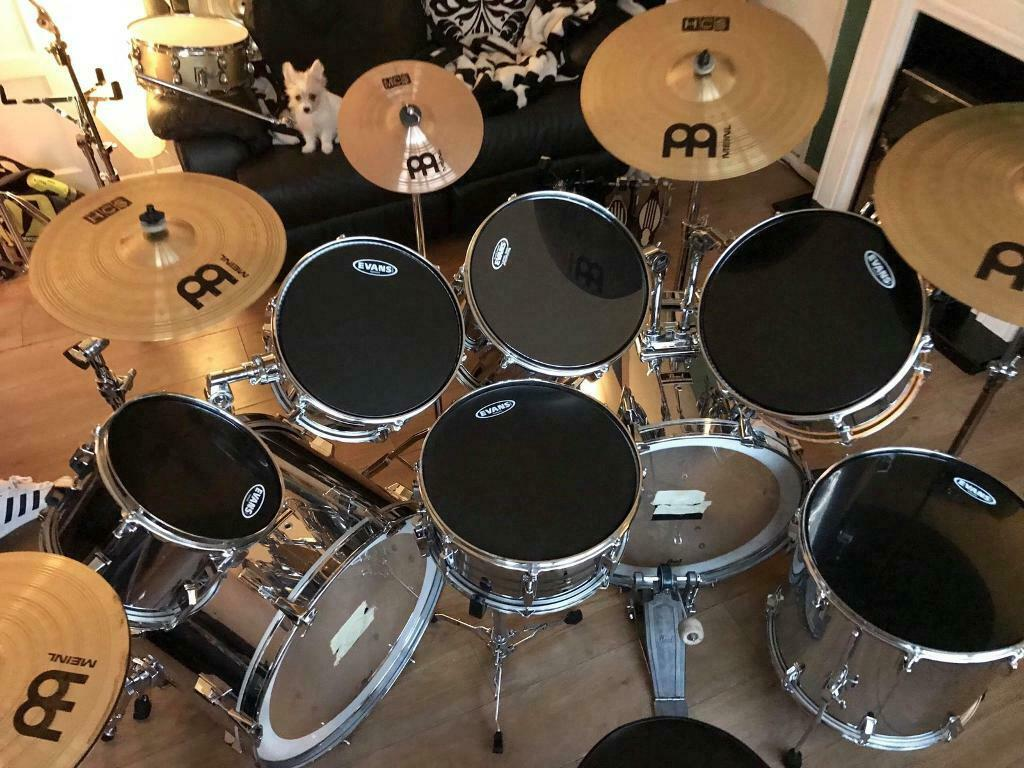 Pearl Export 8pc Double Bass Drum Kit In Manchester