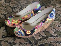 Multi Coloured Wedge Shoes