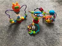 baby toy bundle rattles and high chair toy!
