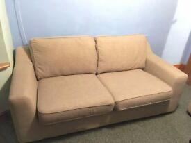 DFS Beige Fabric Sofa