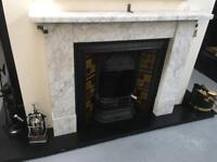 Gorgeous old marble fireplace