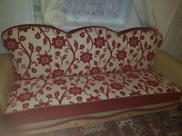 2 comfortable used sofa and 3 stools good condition.