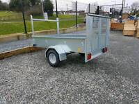 NEW 7x4 GALVANISED TRAILERS WITH REAR RAMP DOOR PERFECT FOR MOVING QUADS OFF ROAD & ACROSS FIELDS