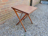 TRADITIONAL WOODEN FOLDING PICNIC TABLE