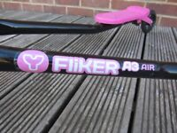 Y Fliker A3 Air Scooter, Black and Pink.