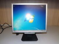 Monitor Acer AL1716s Monitor, excellent working condition