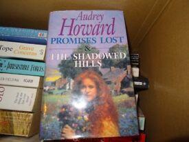 AUDREY HOWARD HARDBACK BOOK - PROMISES LOST & THE SHADOWED HILLS