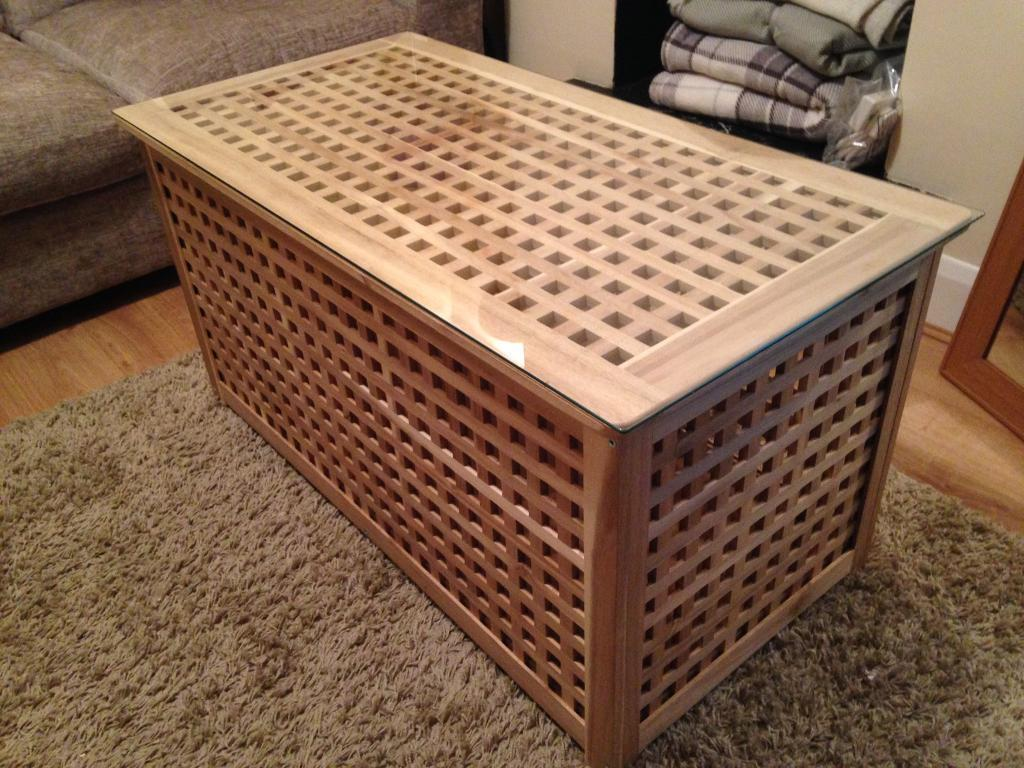 Blanket Box Coffee Table Storage With Gl Top Ikea