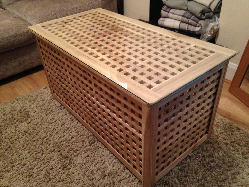 Blanket Box Coffee Table Storage With Glass Top Ikea In Colliers Wood London Gumtree