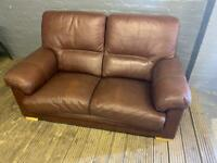 REAL ITALIAN LEATHER SOFA IN GOOD CONDITION