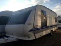 Hobby Caravan 570 Vip Collection (2008) Island Bed And Full Awning. Like Tabbert/Fendt