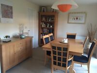 DFS Dining Table and 6 Chairs, Bookcase and Sideboard - all for £350!