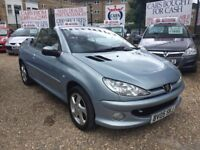 "PEUGEOT 206 ALLURE""""05 PLATE """" CONVERTIBLE ALLOYS!!!LOW MILEAGE!!!"
