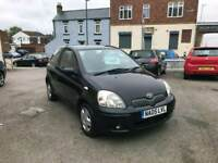 2005 05 toyota yaris colour collection 1.0 low miles